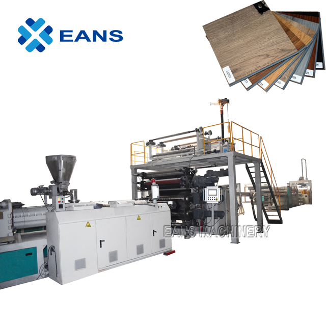 PVC SPC Laminated Vinyl Flooring Making Machine with PLC Control