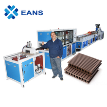 WPC Plastic Wood Composite Profile Decking Production Line With Good Quality